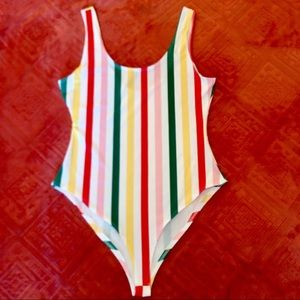 Tops - Striped bodysuit